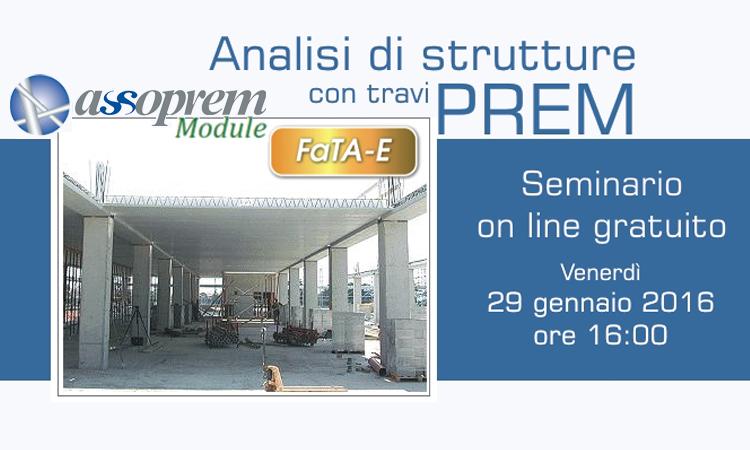 Analisi di strutture con travi PREM